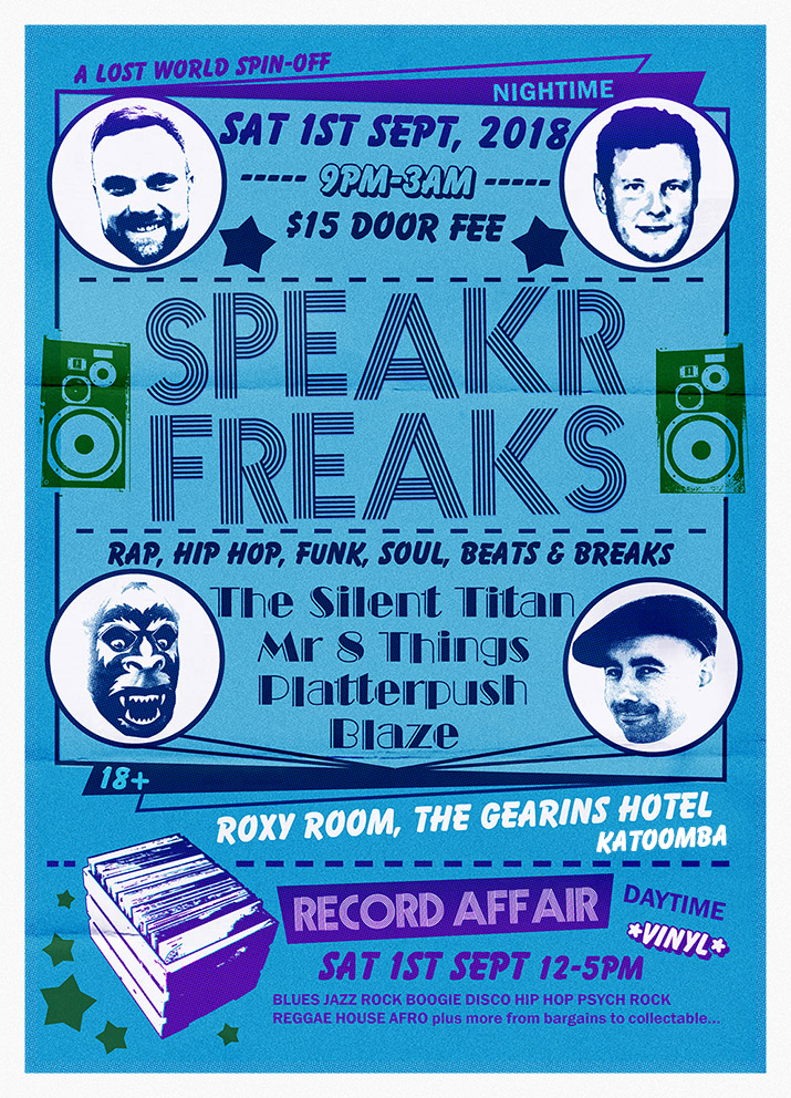 SPEAKR FREAKS old school poster e