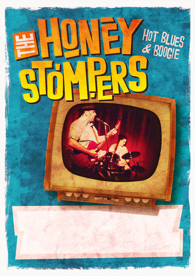 The Honey Stompers gig poster
