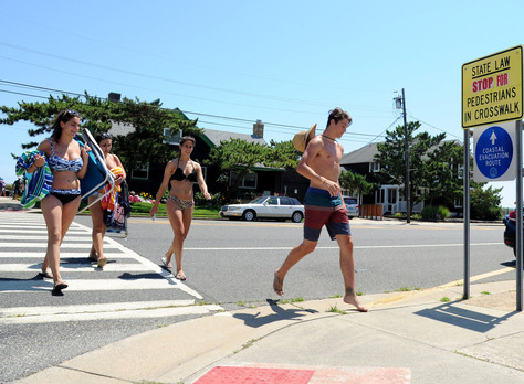 Why do Jersey beachgoers keep walking out into traffic?