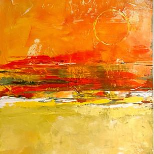 Orange Horizon | 15x30 | Acrylic