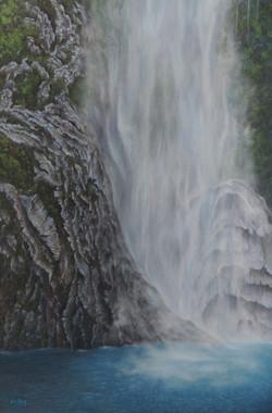 """Misty Falls of Milford Sound"""