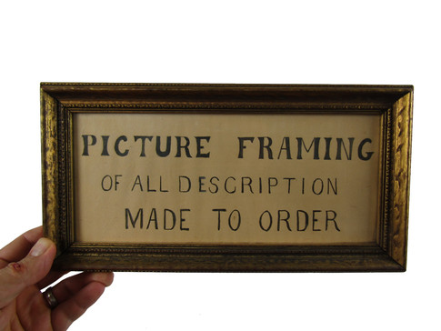 Picture Framing Sign