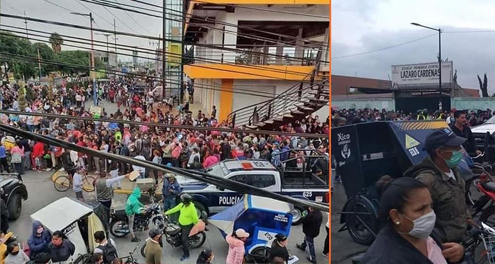 #EfectoCovid: En Valle de Chalco miles se amontonan para ganar carne gratis
