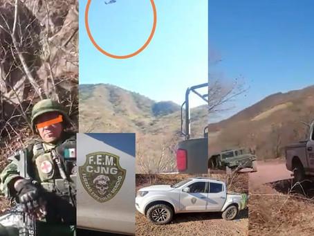 Michoacán: Soldados acorralados por el CJNG son salvados por un Black Hawk que rafaguea a los narcos