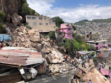 Desgajamiento en el Cerro del Chiquihuite en Estado de México