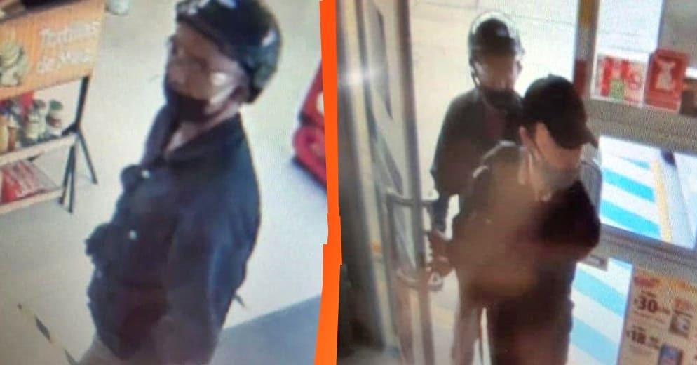 Buscan a estos dos asaltantes que con arma en mano, roban tiendas en Morelia (+Fotos)