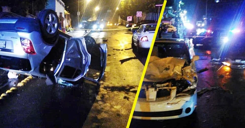 Muere moreliana tras volcar su auto en la entrada al Ramal Camelinas; otra conductora herida