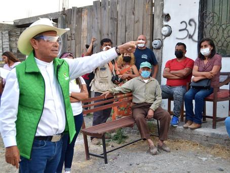 HABITANTES DE LA COLONIA EL SABINO RECONOCEN TRABAJO SOCIAL Y DE GESTIÓN DE SALVADOR ARVIZU