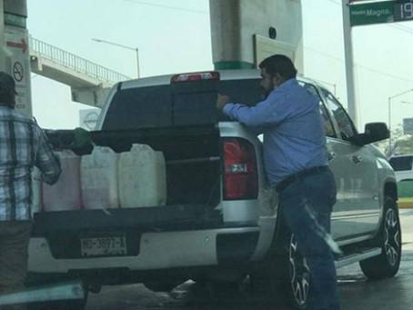 Cachan a Diputado  del PT  comprando más de 80 litros de gasolina