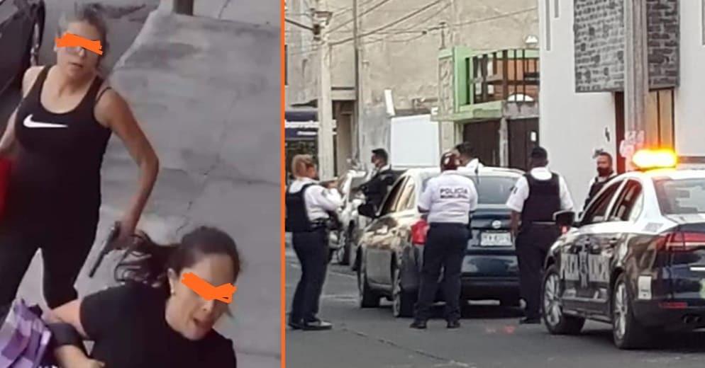 Dos morelianas armadas y con auto robado, protagonizaron una persecución policíaca