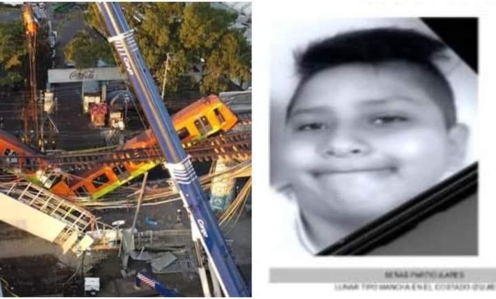 Hallan sin vida a Brandon Giovanni, niño desaparecido durante derrumbe de Línea 12