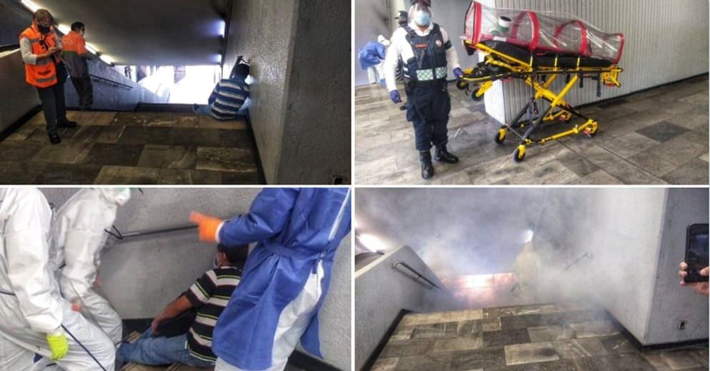 #CDMX: Hombre con síntomas de Covid-19 se desvanece en el Metro