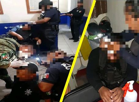 #PasaEnMichoacán: Turba agrede a policías municipales; hay 2 agentes lesionados