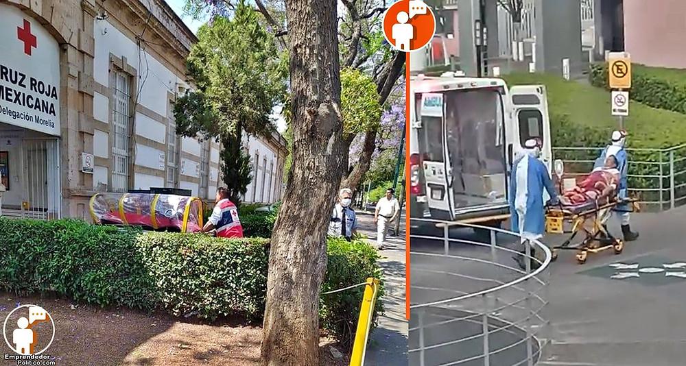 Por nuevas medidas de seguridad, así llegarán pacientes a diferentes hospitales de Morelia (+Video)