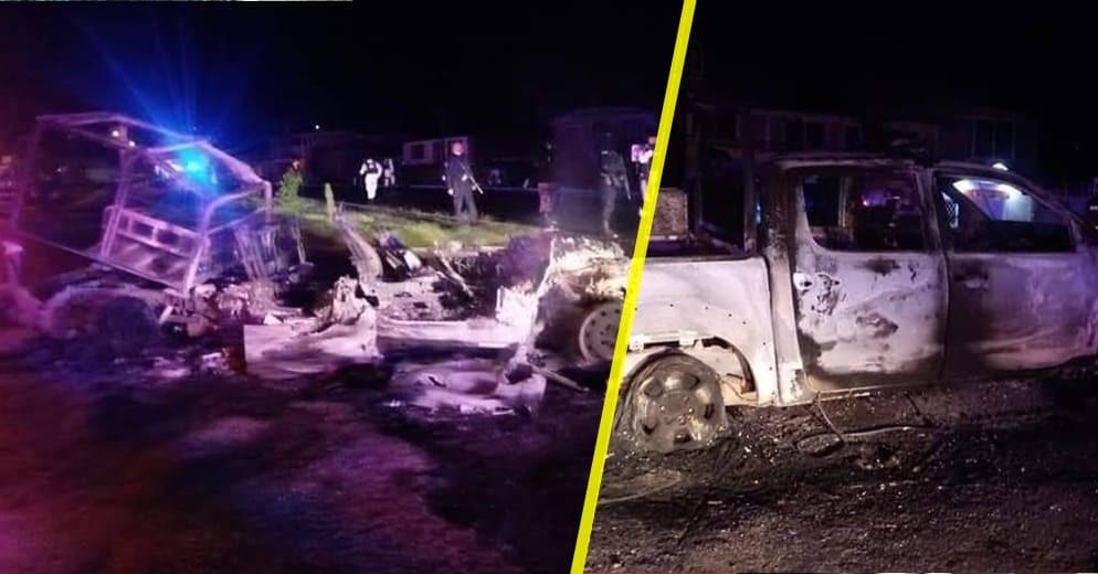 #Michoacán: ¿Narcovirus? Desarma y deja heridos a policías; quemaron sus unidades