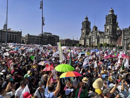 #MarchaDelMillón reúne a 5 mil 700 simpatizantes de AMLO
