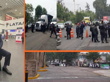 Silvano emprende vuelo a EUA mientras Michoacán se cae a pedazos con manifestaciones y falta de pago