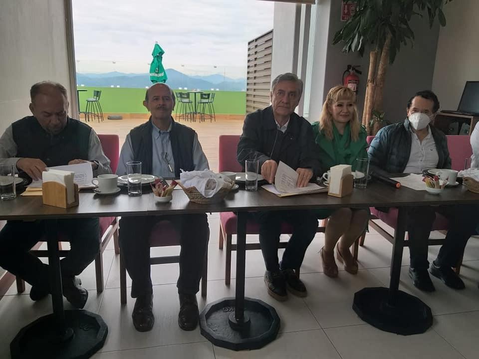 Fausto Vallejo y Cristobal Arias lideran reunión con con empresarios y grupos priístas de Zitácuaro