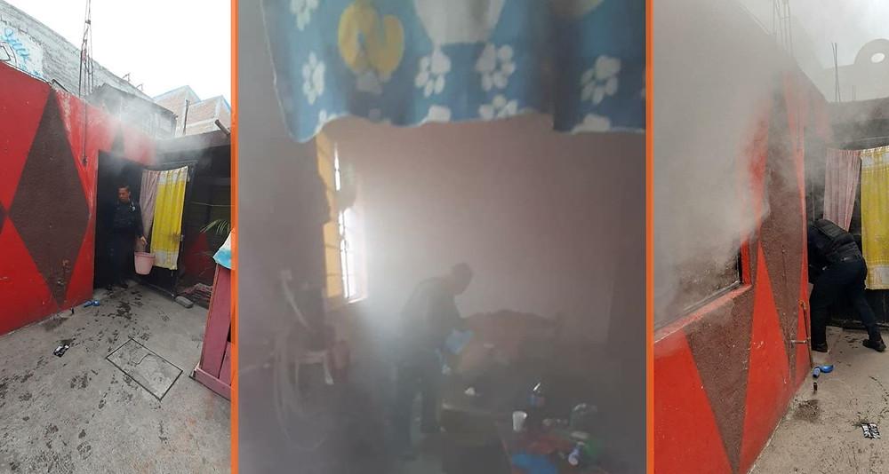 QueNoTePaseAti: Se incendia casa por dejar prendida una plancha
