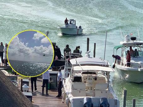 Desploma avioneta en laguna de Zona Hotelera de Cancún (+Video)