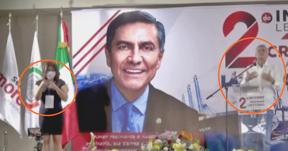 Comunidad sorda de Michoacán critica a Cristóbal Arias por simulaciones en traductores de señas
