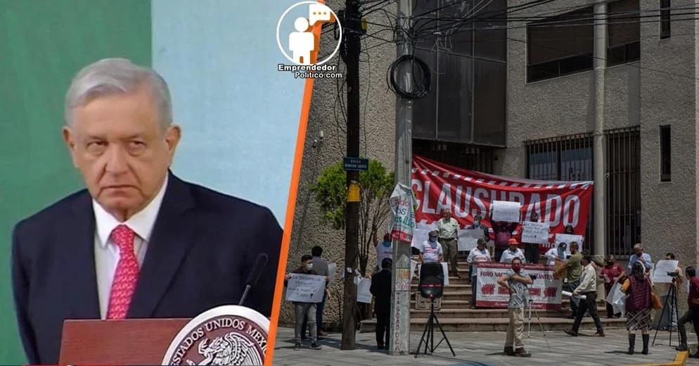 Autonombrado CEE de Morena Michoacán protesta en el INE contraviniendo decisión de AMLO