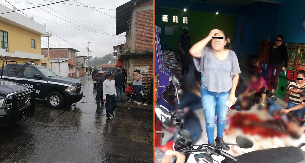 Difunden video del ataque a local de maquinitas en #Uruapan