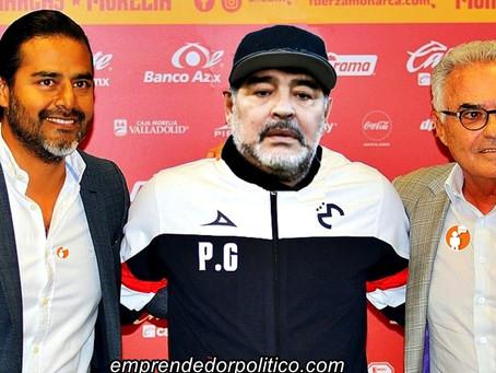 Monarcas Morelia anuncia fichaje bomba; llega Maradona como nuevo DT #NoEsBroma