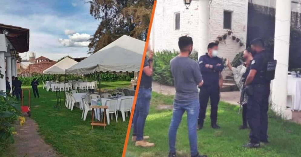 ¡No se alcanzaron a casar! Llego la poli y evitó una fiesta de 150 invitados en Purepero