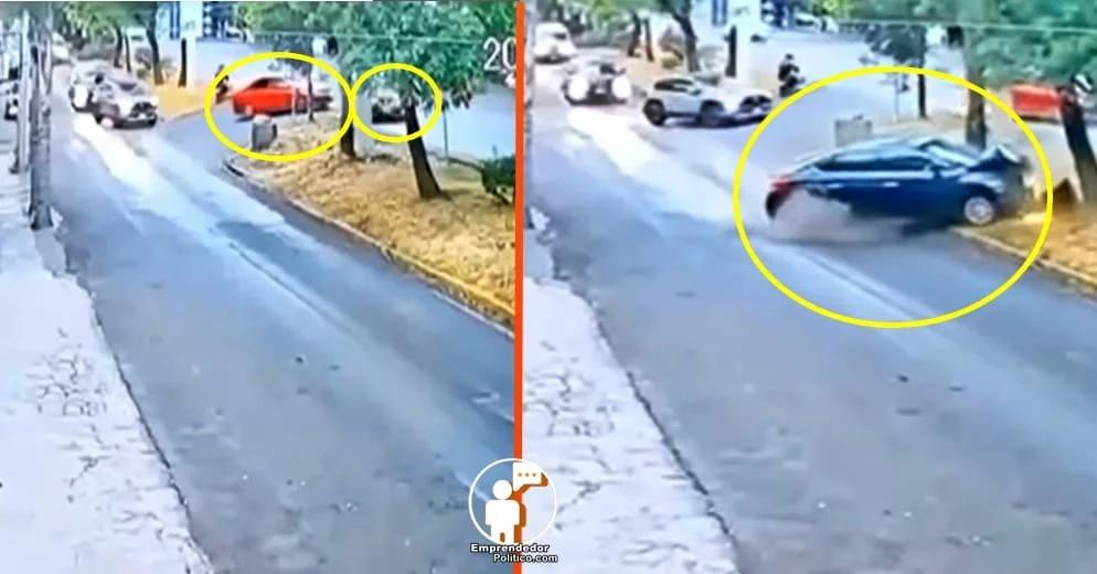 Morelia: Conductor ocasionó que dos abuelitos chocaran su auto contra un árbol (+Video)