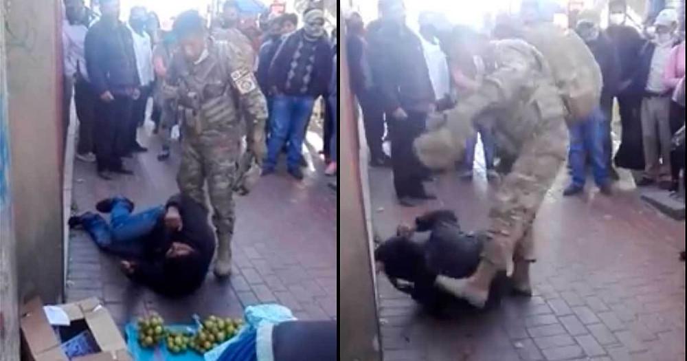 Delincuente intenta asaltar a jovencita; militar lo neutraliza