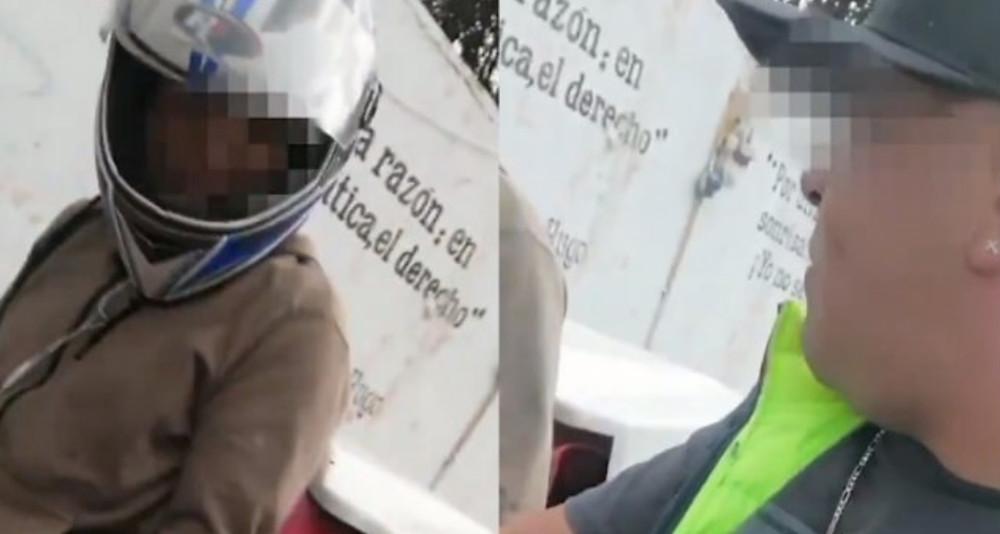 »Dame tu pizza o te balaceo», sujeto que asaltaba en Periférico también se graba mientras asalta