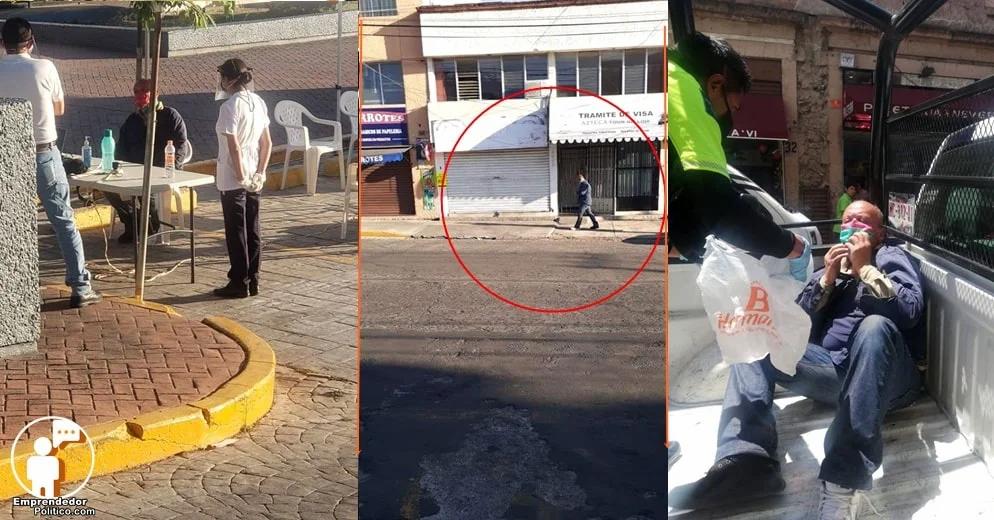Detienen a sujeto que estando enfermo, escupía a peatones de Morelia (+Fotos)