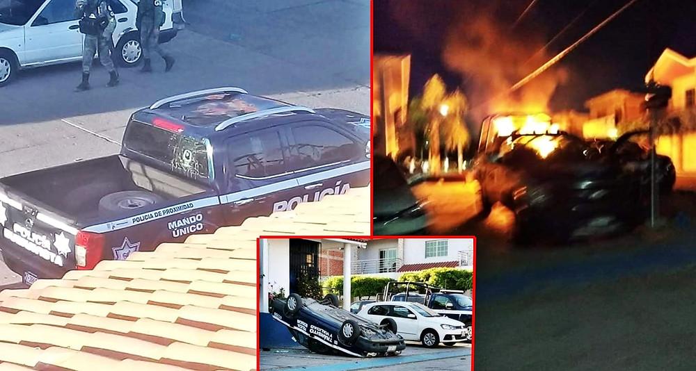 """Tras propuestas por """"abusos de tránsito"""", pueblo bueno y sabio quema patrullas en Buenavista, Mich."""