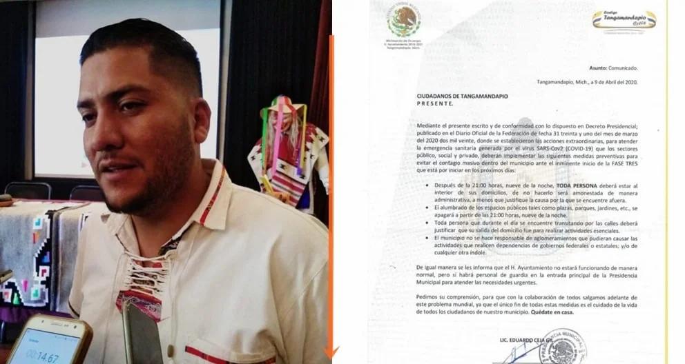 Este municipio de Michoacán es el primero en declarar toque de queda por coronavirus
