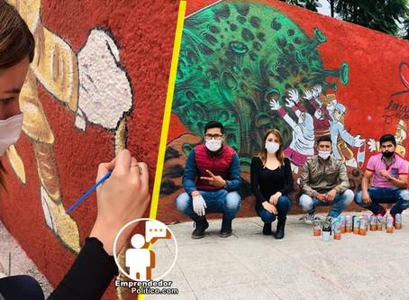 Con arte urbano lanzan campaña para crear conciencia social
