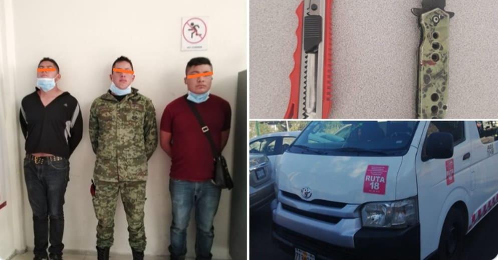 ¿Tierra de nadie? 3 militares mexicanos  asaltan combis en Edomex; ya fueron detenidos