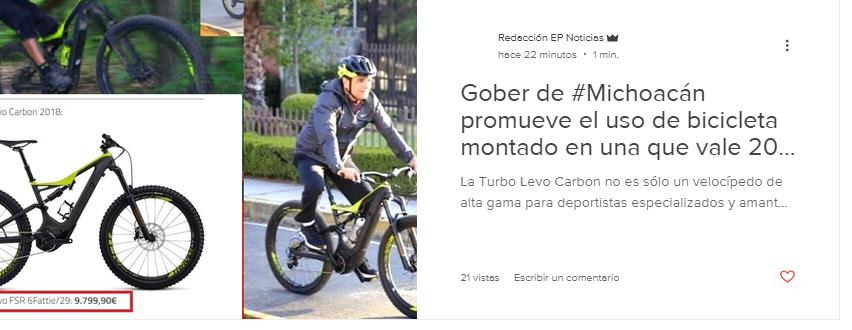Silvano Aureoles en Bicicleta Fifí