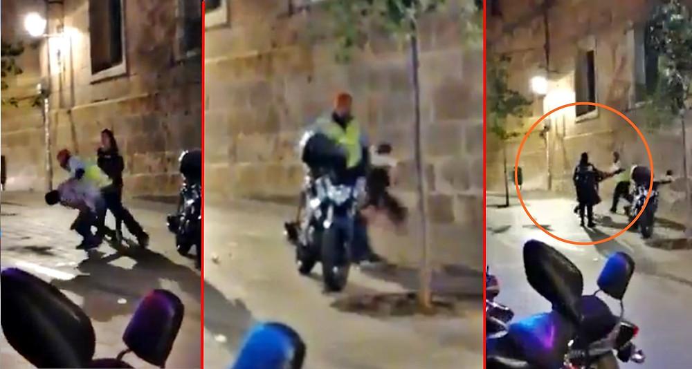 Filtran video de otra golpiza a joven por un elemento de seguridad de un bar moreliano