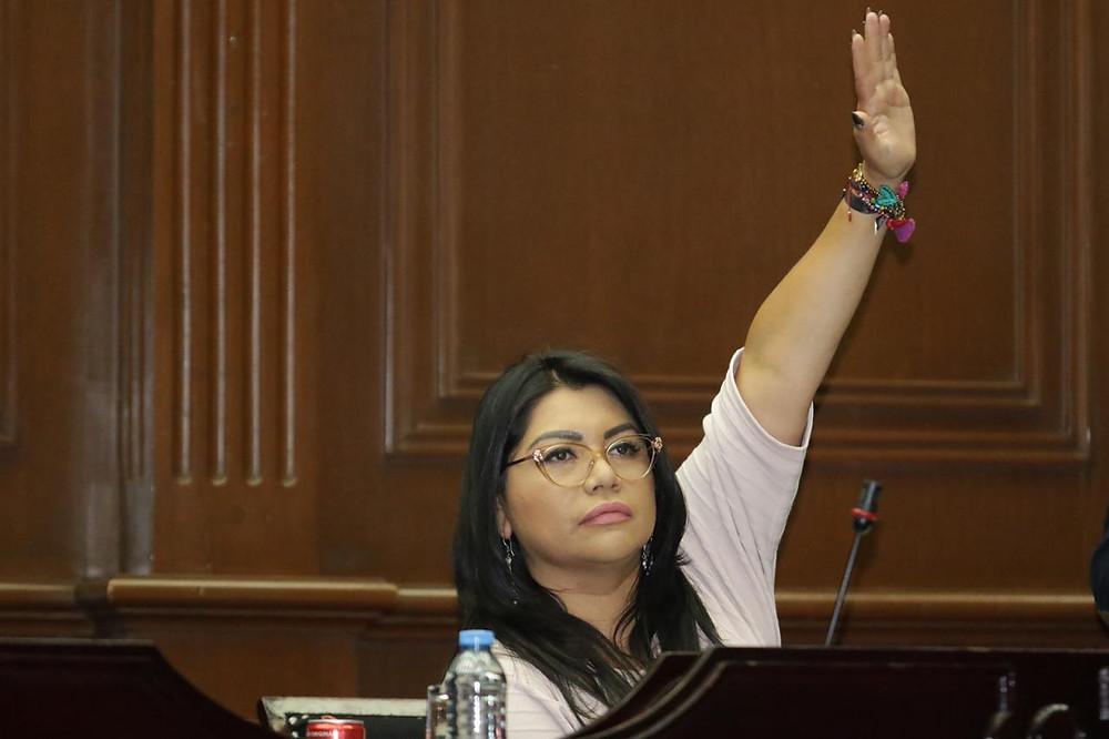 Exige Brenda Fraga más resultados en la Alerta de Violencia de Genero en Michoacán.