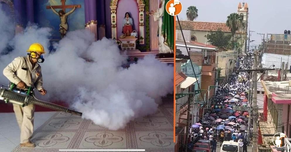 SSM sanitiza la Nueva Jerusalén luego de los eventos religiosos masivos realizados en días pasados