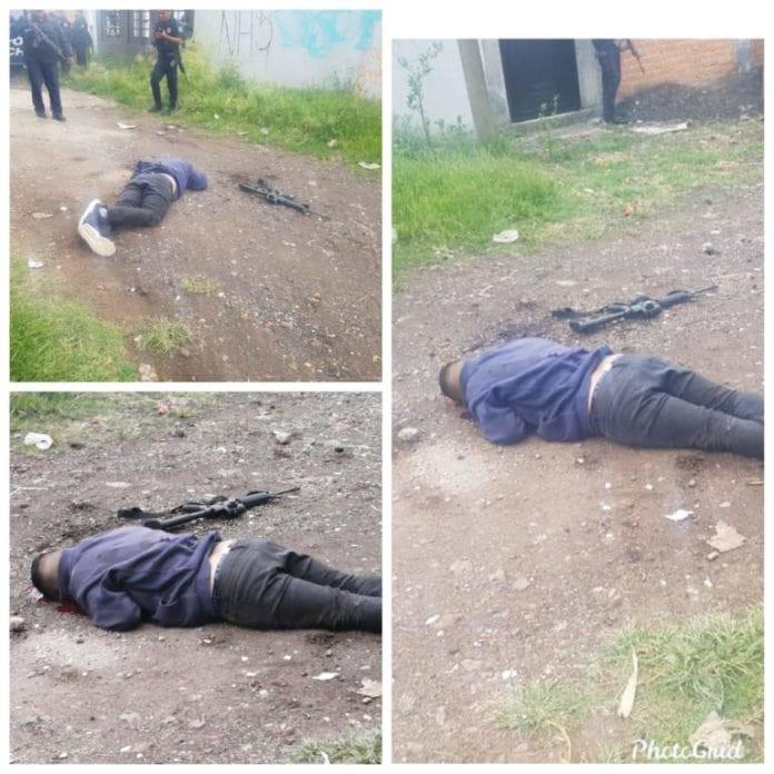 #Seguridad: En enfrentamiento, muere un policía y un civil