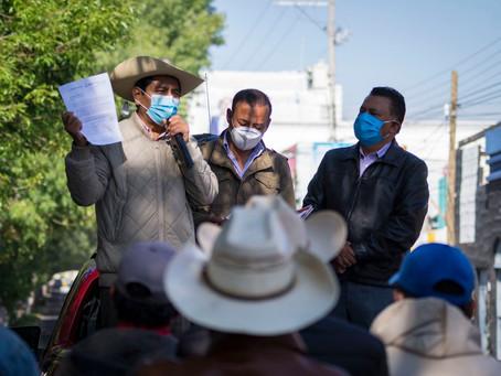 Protesta Alcalde de Epitacio Huerta contra el gobierno de Silvano por retención de recursos