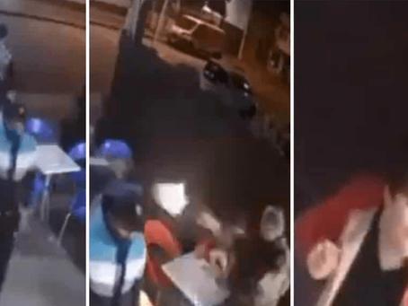 Policía balea a asaltantes mientras comía helado con su hijo