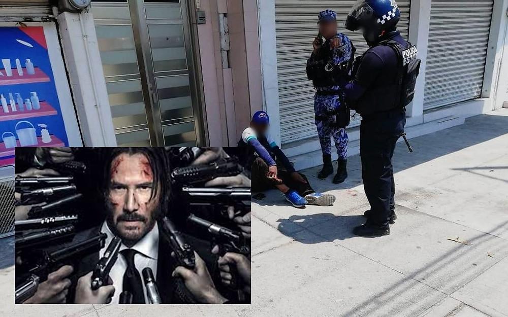 Asaltante recibe 20 balazos, sobrevive y es detenido en Uruapan