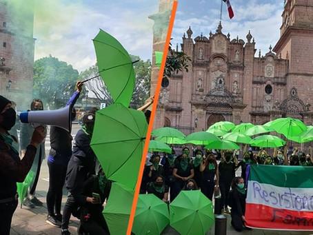 Resistencia feminista en #Michoacán: colectivos se suman a la acción mundial por un aborto legal