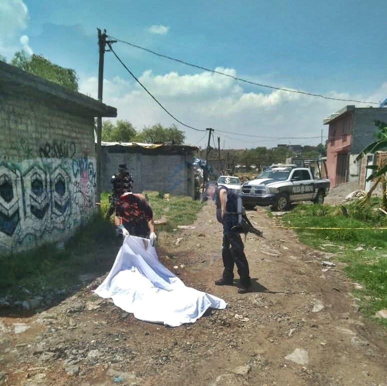 Asesinan a balazos a sujeto en Presa de los Reyes