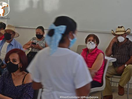 Fallece abuelito en Centro de Vacunación de Morelia
