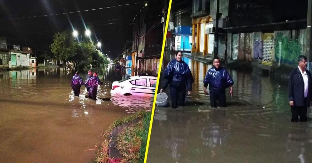Durante esta madrugada, Polis de Morelia evitan que casas  de la Av. Poliducto se inundaran