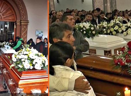 """Familiares despiden a los niños y adolescentes asesinados en las """"maquinitas de Uruapan"""""""